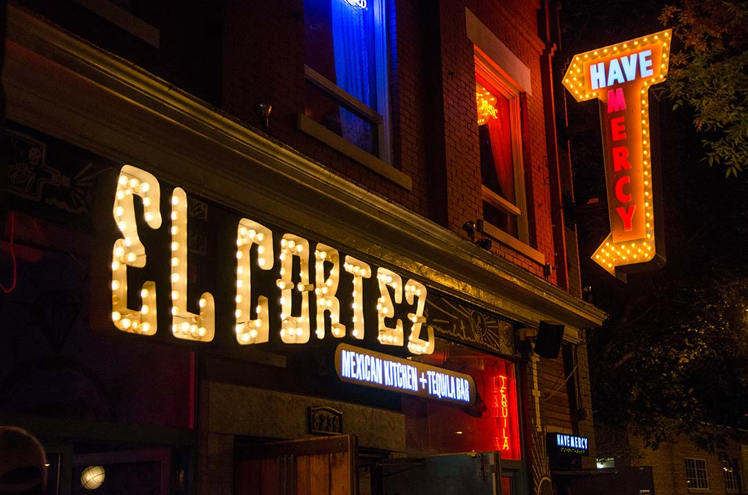 Marquee bulbs and Projecting sign for El Cortez and Have Mercy