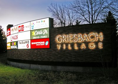 Griesbach monument sign