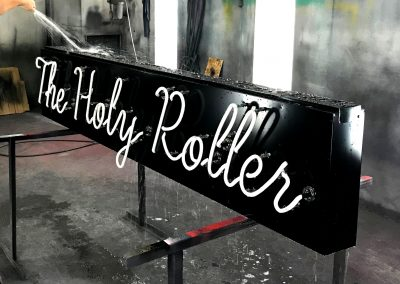 Holy Roller in the paint booth