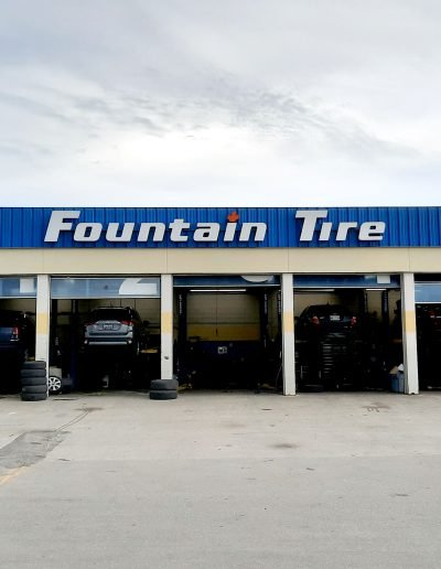 Fountain Tire Channel Letters in Winnipeg