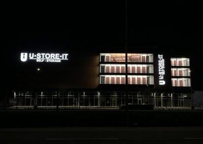 Night shot of U-Store -It